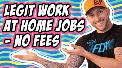 7 Work At Home Jobs With No Fees To Start